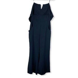 Adelyn Rae Crepe Strapless Jumpsuit- XL